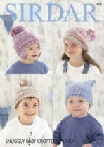 Sirdar Snuggly Baby Crofter Chunky - 4781 Hats Knitting Pattern